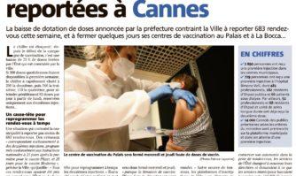 Près de 700 vaccinations reportées à Cannes