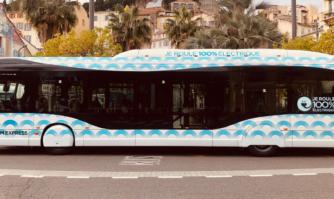 David Lisnard présente le 1er bus 100% électrique de l'Agglomération