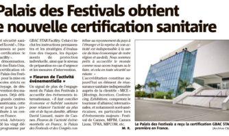 Le Palais des Festivals obtient une nouvelle certification sanitaire