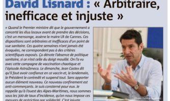 """Confinement des Alpes-Maritimes : """"arbitraire, inefficace et injuste"""" pour David Lisnard"""