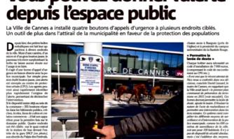 Vous pouvez donner l'alerte depuis l'espace public