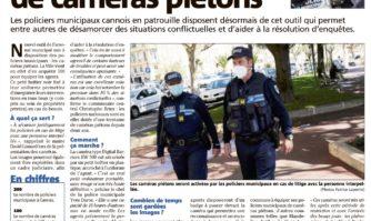 La Ville équipe ses policiers de caméras piétons