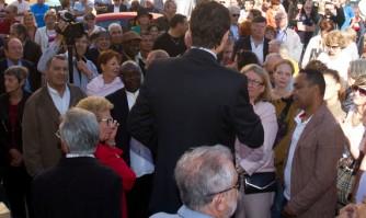 Rassemblement populaire autour de David Lisnard à La Bocca