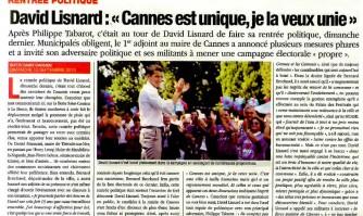 """David Lisnard: """"Cannes est unique, je la veux unie."""""""
