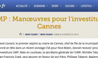 UMP : Manœuvres pour l'investiture à Cannes