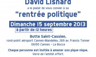 """La """"rentrée politique"""" de David Lisnard"""