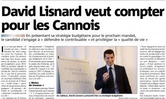 David Lisnard veut compter pour les Cannois