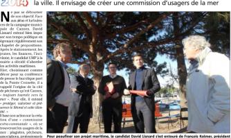 Municipales à Cannes: David Lisnard (UMP) ancre sa politique maritime