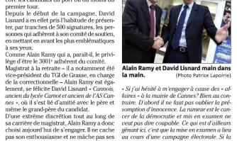 Alain Ramy juge et partie chez David Lisnard