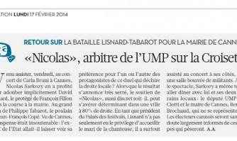 «Nicolas», arbitre de l'UMP sur la Croisette