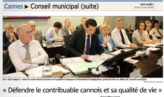 """""""Défendre le contribuable cannois et sa qualité de vie"""""""