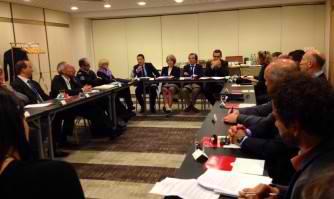 David Lisnard en réunion de travail du Comité Cannes Sécurité Prestige