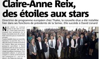 Claire-Anne Reix succède à David Lisnard à la tête du Palais des festival de Cannes