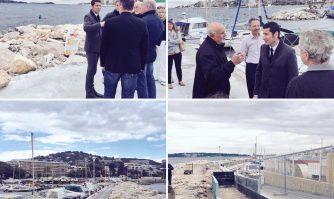 Visite de terrain : sécurisation et embellissement au port du Mouré Rouge