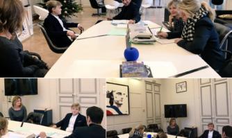 Réception d'un jeune écolier Cannois qui avait écrit au Maire de Cannes