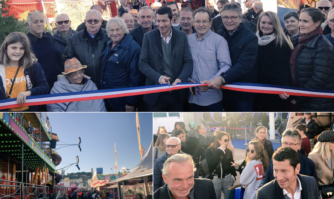 Inauguration de la fête foraine sur l'esplanade de la Pantiero