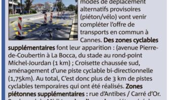 Pistes cyclables étendues du Port Canto à La Bocca