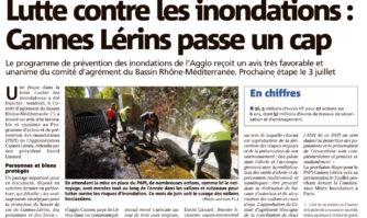 Lutte contre les inondations : Cannes Lérins passe un cap
