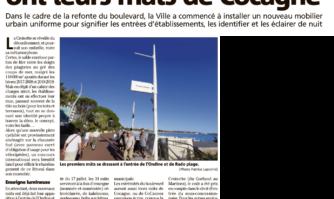 Les plages de la Croisette ont leurs mâts de Cocagne