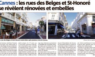 Les rues des Belges et Saint-Honoré se révèlent rénovées et embellies