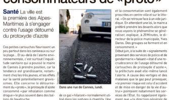 """Cannes met à l'amende les consommateurs de """"proto"""""""