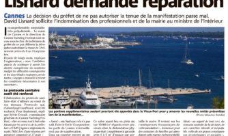 Yachting Festival annulé : David Lisnard demande réparation