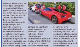 Lutte contre l'incivisme : interdit de circuler en France, il roulait à vive allure en ville