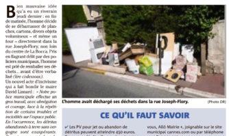 Lutte contre l'incivisme : il jette ses déchets dans la rue : puni !