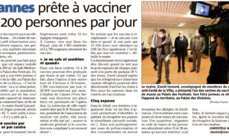 Cannes prête à vacciner 1 200 personnes par jour