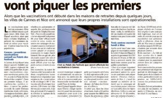 Vaccination : Cannes et Nice vont piquer les premiers