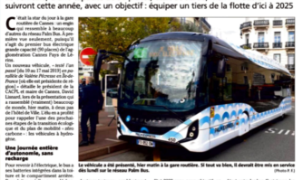 """Le premier bus électrique """"grande capacité"""" est là !"""