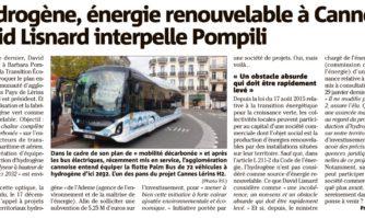 L'hydrogène, énergie renouvelable à Cannes : David Lisnard interpelle Pompili