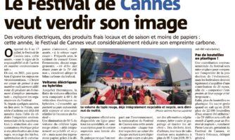 Le Festival de Cannes veut verdir son image