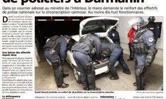 David Lisnard réclame plus de policiers à Darmanin