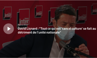 """David Lisnard : """"Tout ce qui est 'cancel culture' se fait au détriment de l'unité nationale"""""""