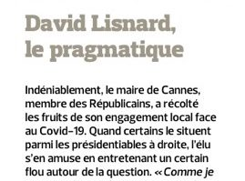 David Lisnard, le pragmatique