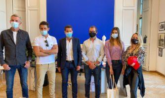 Evénementiel : L'équipe des Ninja Warrior en Mairie