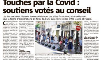 Touchés par le Covid : soutiens voté au conseil
