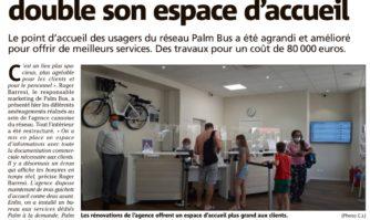 Rénovée, l'agence Palm Bus double son espace d'accueil