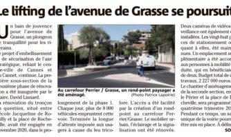 Le lifting de l'avenue de Grasse se poursuit