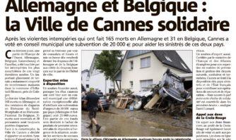 Allemagne et Belgique : la Ville de Cannes solidaire
