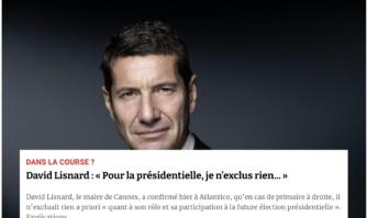 Présidentielle 2022 : David Lisnard répond à Atlantico
