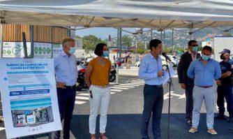 Mobilité : Livraison de la première phase du grand parking relais multimodal Bastide Rouge à Cannes-La Bocca