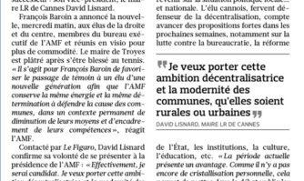 Maires de France : Lisnard en voie de succéder à Baroin