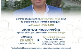 Agenda : ce dimanche, c'est pique-nique à Saint Cassien autour de David Lisnard