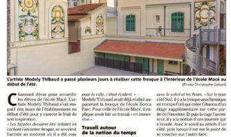 Une fresque de l'artiste Modely Thibaud habille l'école Macé