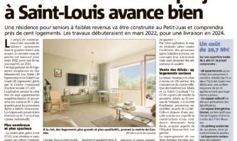 Résidence seniors : le projet à Saint-Louis avance bien