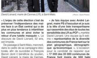 Maires de France : Lisnard en campagne