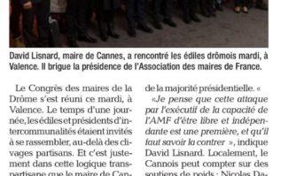 Congrès des Maires de la Drôme : David Lisnard en campagne